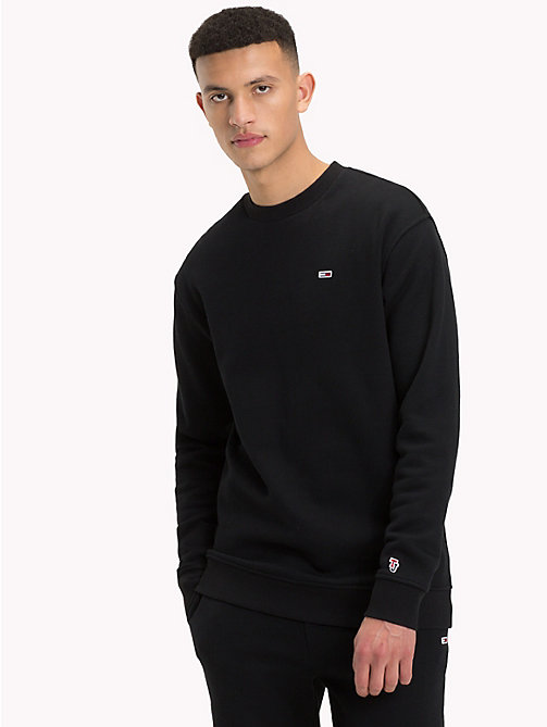 TOMMY JEANS Tommy Classics Crew Neck Sweatshirt - TOMMY BLACK - TOMMY JEANS Tommy Classics - main image