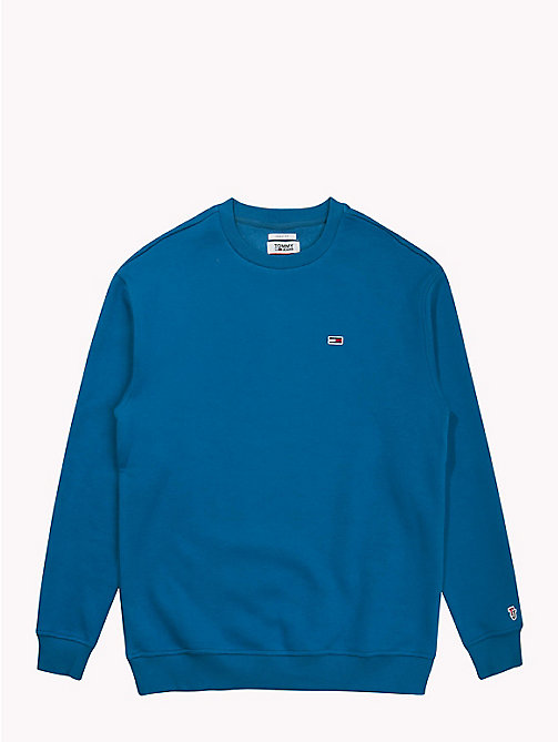 TOMMY JEANS Tommy Classics sweatshirt met ronde hals - BLUE SAPPHIRE - TOMMY JEANS Tommy Classics - detail image 1