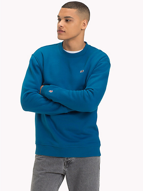 TOMMY JEANS Tommy Classics Crew Neck Sweatshirt - BLUE SAPPHIRE - TOMMY JEANS Test 8 - Men - main image