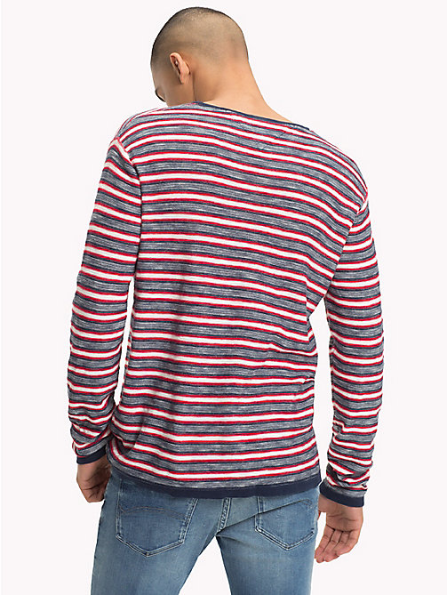 TOMMY JEANS Stripe Jumper - BLACK IRIS MULTI - TOMMY JEANS Knitwear - detail image 1