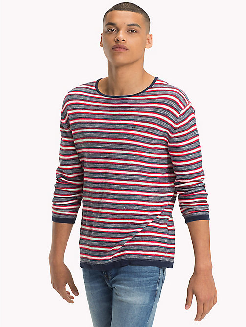TOMMY JEANS Stripe Jumper - BLACK IRIS MULTI - TOMMY JEANS Knitwear - main image