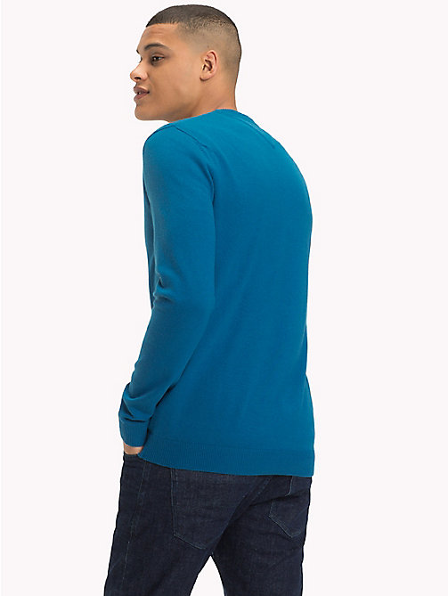 TOMMY JEANS Crew Neck Jumper - BLUE SAPPHIRE - TOMMY JEANS Jumpers - detail image 1
