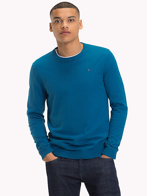 TOMMY JEANS Crew Neck Jumper - BLUE SAPPHIRE - TOMMY JEANS Jumpers - main image