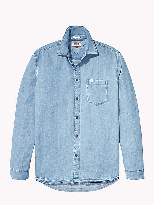 TOMMY JEANS Relaxed Denim Shirt - MID INDIGO - TOMMY JEANS Shirts - detail image 1