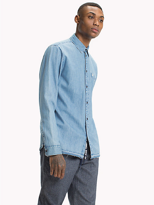 TOMMY JEANS Relaxed Denim Shirt - MID INDIGO - TOMMY JEANS Shirts - main image