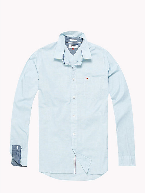 TOMMY JEANS Essential Smart Shirt - GREEN BLUE SLATE - TOMMY JEANS Shirts - detail image 1