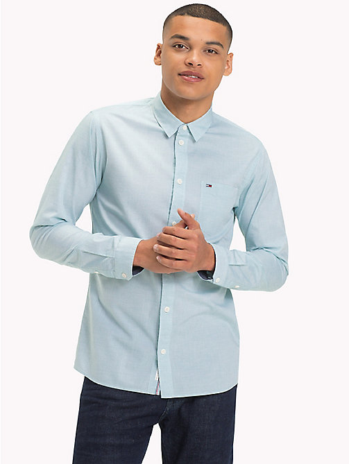 TOMMY JEANS Essential Smart Shirt - GREEN BLUE SLATE - TOMMY JEANS Shirts - main image