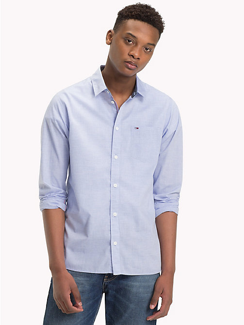 TOMMY JEANS Essential Smart Shirt - SURF THE WEB - TOMMY JEANS Shirts - main image