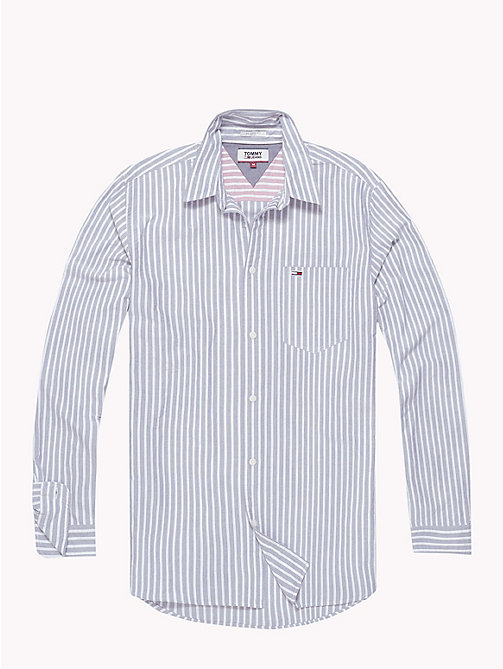 TOMMY JEANS Tommy Classics Stripe Oxford Shirt - BLACK IRIS -  Test 8 - Men - detail image 1