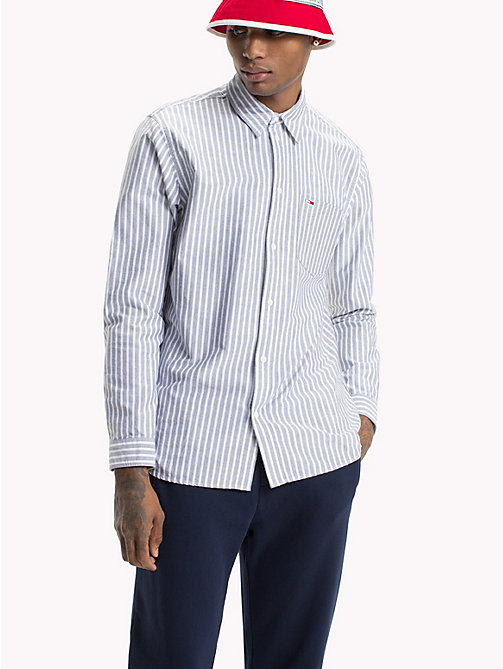 TOMMY JEANS Camicia Oxford a righe Tommy Classics - BLACK IRIS -  Test 8 - Men - immagine principale
