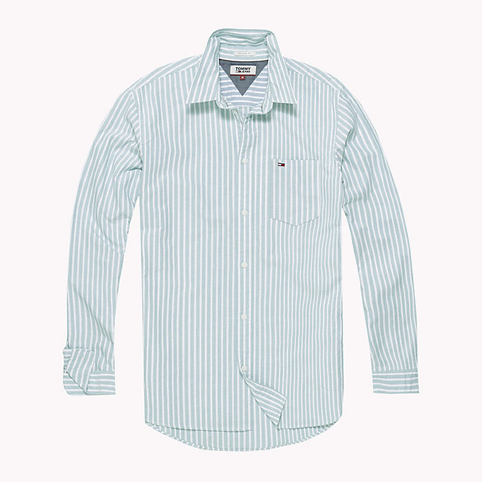 TOMMY JEANS Camicia Oxford a righe Tommy Classics - LIGHT BLUE - TOMMY JEANS Uomini - dettaglio immagine 1