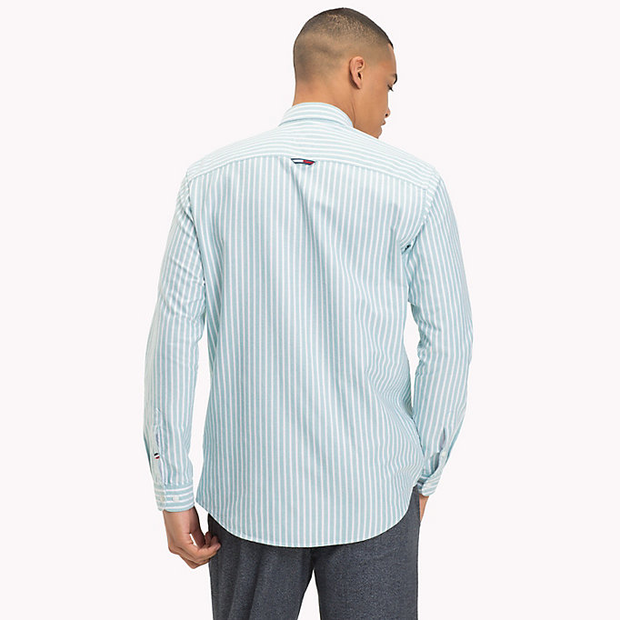 TOMMY JEANS Camicia Oxford a righe Tommy Classics - LIGHT BLUE - TOMMY JEANS Uomini - dettaglio immagine 2