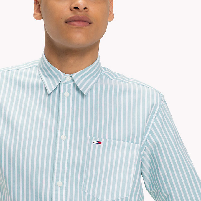 TOMMY JEANS Camicia Oxford a righe Tommy Classics - LIGHT BLUE - TOMMY JEANS Uomini - dettaglio immagine 3