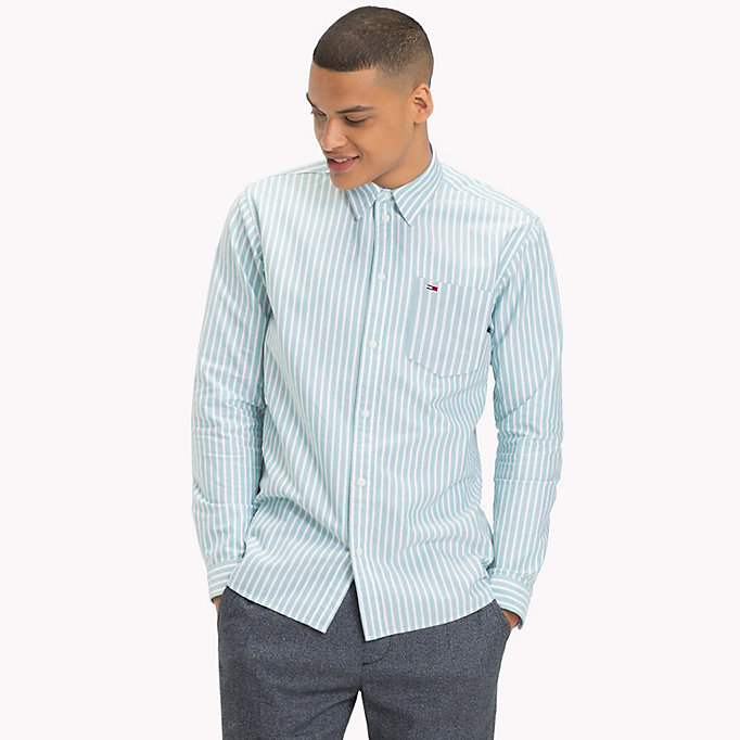 TOMMY JEANS Camicia Oxford a righe Tommy Classics - LIGHT BLUE - TOMMY JEANS Uomini - immagine principale