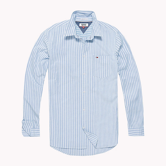 TOMMY JEANS Camicia Oxford a righe Tommy Classics - BLUE SAPPHIRE - TOMMY JEANS Uomini - dettaglio immagine 1