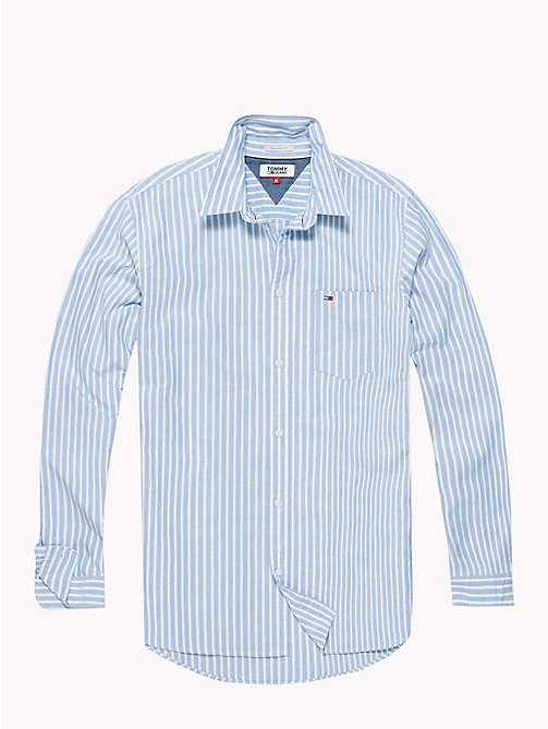 TOMMY JEANS Tommy Classics Stripe Oxford Shirt - LIGHT BLUE - TOMMY JEANS Shirts - detail image 1