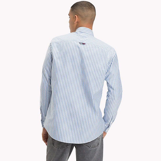 TOMMY JEANS Camicia Oxford a righe Tommy Classics - BLUE SAPPHIRE - TOMMY JEANS Uomini - dettaglio immagine 2