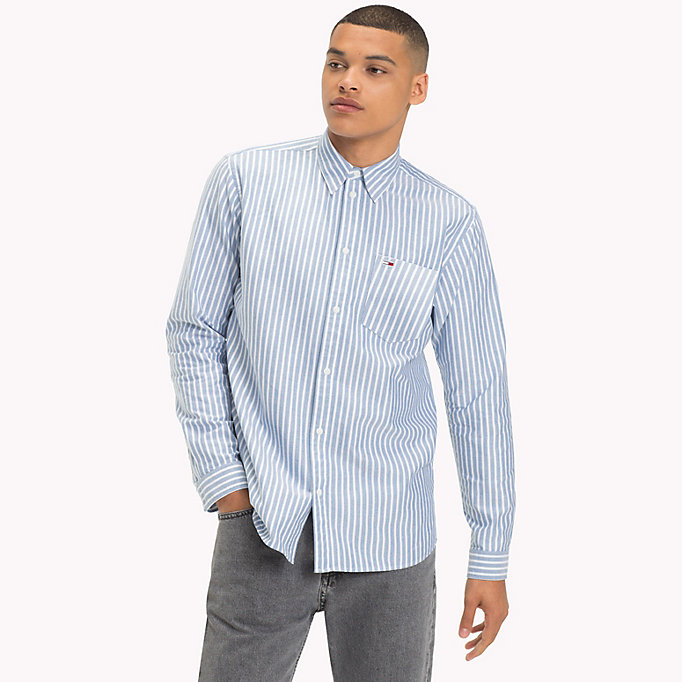 TOMMY JEANS Camicia Oxford a righe Tommy Classics - BLUE SAPPHIRE - TOMMY JEANS Uomini - immagine principale