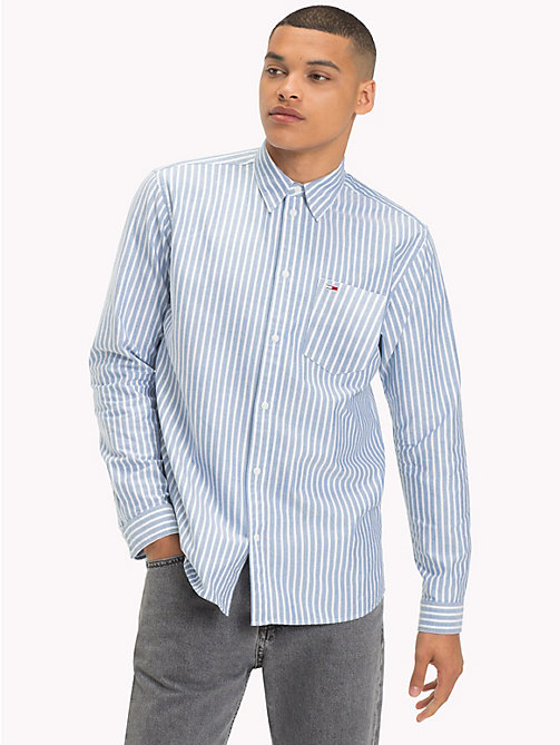 TOMMY JEANS Tommy Classics Stripe Oxford Shirt - LIGHT BLUE - TOMMY JEANS Shirts - main image
