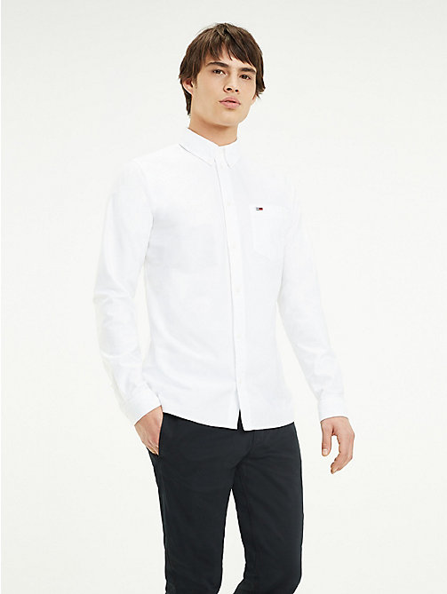 TOMMY JEANS Tommy Classics Oxford Shirt - CLASSIC WHITE - TOMMY JEANS Tommy Classics - main image