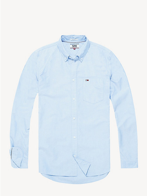 TOMMY JEANS Tommy Classics Oxford Shirt - LIGHT BLUE - TOMMY JEANS Shirts - detail image 1