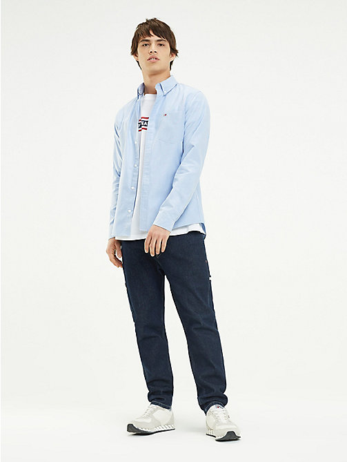 TOMMY JEANS Tommy Classics Regular Fit Shirt - LIGHT BLUE - TOMMY JEANS Tommy Classics - main image
