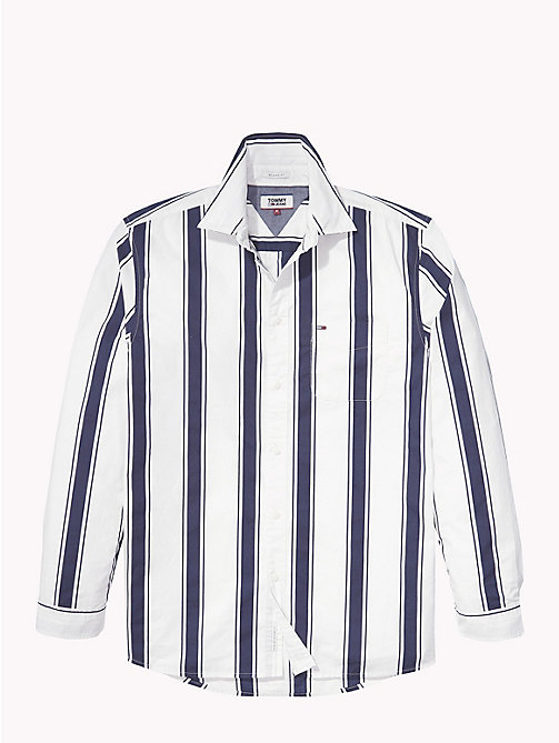 TOMMY JEANS Gestreiftes Hemd - CLASSIC WHITE / BLACK IRIS - TOMMY JEANS Hemden - main image 1