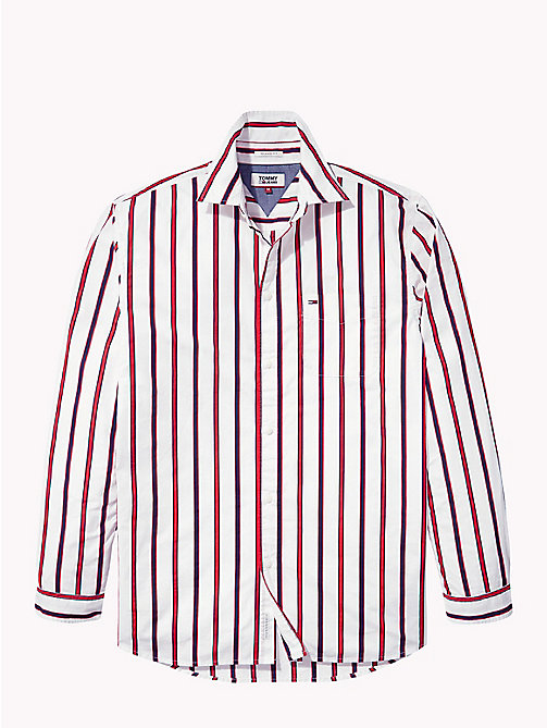 TOMMY JEANS Bold Stripe Shirt - LOLLIPOP / CLASSIC WHITE - TOMMY JEANS Shirts - detail image 1