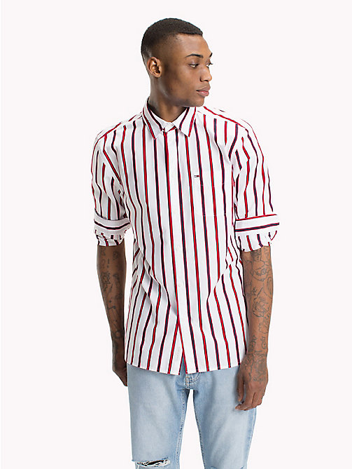 TOMMY JEANS Bold Stripe Shirt - LOLLIPOP / CLASSIC WHITE - TOMMY JEANS Shirts - main image