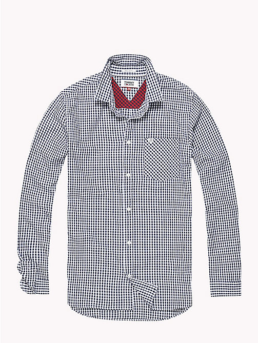 TOMMY JEANS Gingham Check Shirt - BLACK IRIS - TOMMY JEANS Shirts - detail image 1