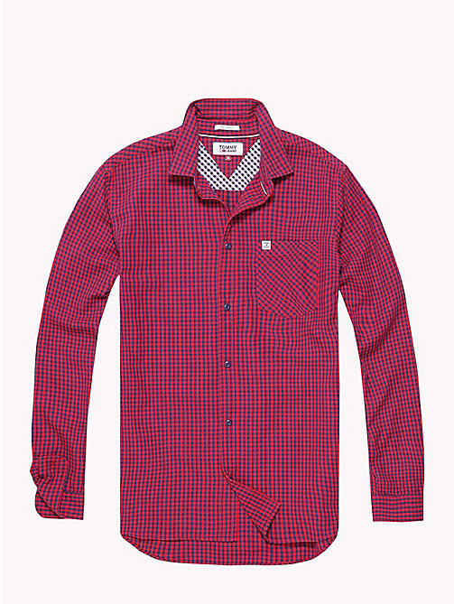 TOMMY JEANS Gingham Check Shirt - LOLLIPOP - TOMMY JEANS Shirts - detail image 1