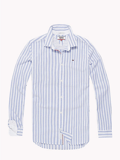 TOMMY JEANS Smart Stripe Shirt - CLASSIC WHITE / BOLD STRIPE - TOMMY JEANS Shirts - detail image 1