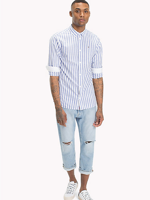 TOMMY JEANS Smart Stripe Shirt - CLASSIC WHITE / BOLD STRIPE - TOMMY JEANS Shirts - main image