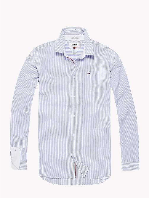 TOMMY JEANS Smartes Hemd mit Streifen - CLASSIC WHITE / PINSTRIPE - TOMMY JEANS Hemden - main image 1