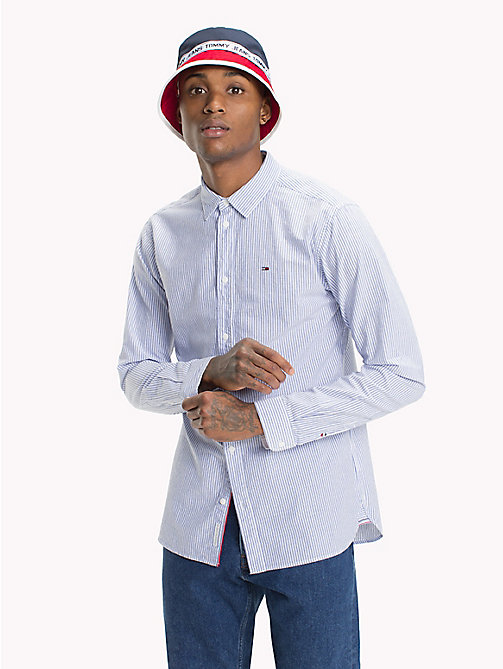 TOMMY JEANS Smart Stripe Shirt - CLASSIC WHITE / PINSTRIPE - TOMMY JEANS Shirts - main image