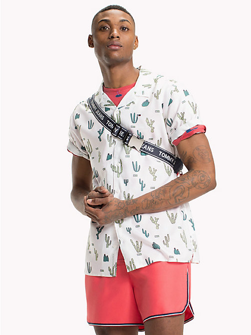 TOMMY JEANS Summer Print Shirt - CACTUS AOP / CLASSIC WHITE - TOMMY JEANS Vacation Style - main image