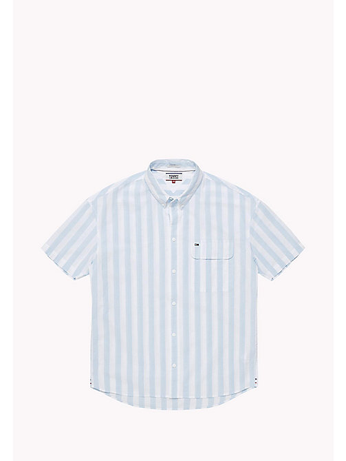 TOMMY JEANS Pique Camp Shirt - AIR BLUE / CLASSIC WHITE - TOMMY JEANS Men - detail image 1