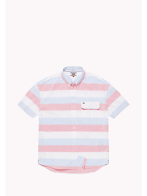 TOMMY JEANS Pique Camp Shirt - ROSE OF SHARON / MULTI - TOMMY JEANS Festivals Season - detail image 1