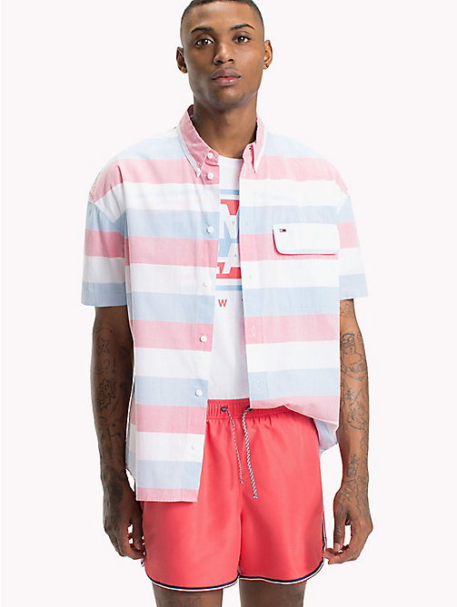 TOMMY JEANS Pique Camp Shirt - ROSE OF SHARON / MULTI - TOMMY JEANS Festival Season - main image