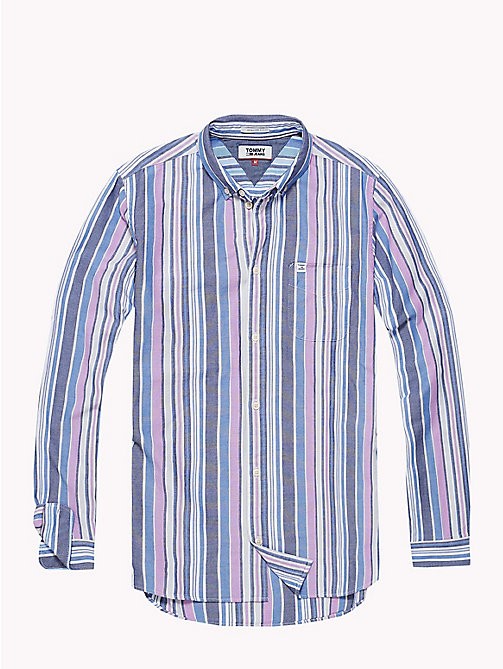 TOMMY JEANS Stripe Oxford Shirt - BODACIOUS / MULTI - TOMMY JEANS Shirts - detail image 1