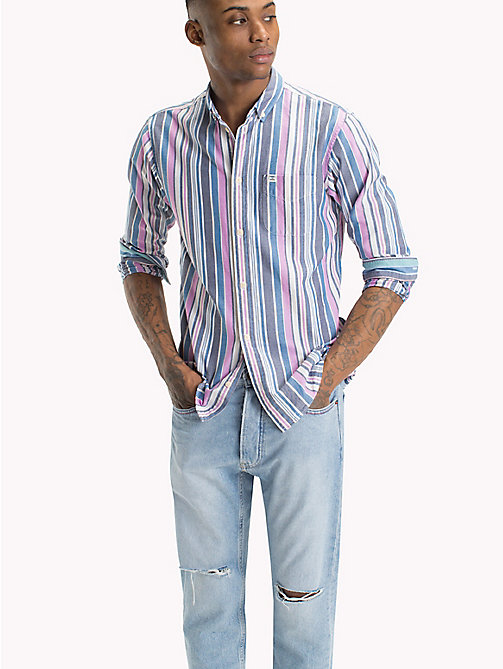 TOMMY JEANS Stripe Oxford Shirt - BODACIOUS / MULTI - TOMMY JEANS Shirts - main image