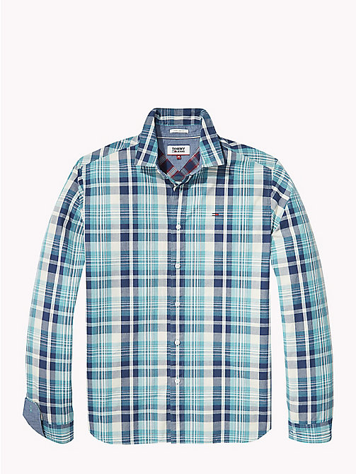 TOMMY JEANS Check Shirt - BLACK IRIS / GREEN BLUE STATE - TOMMY JEANS Shirts - detail image 1