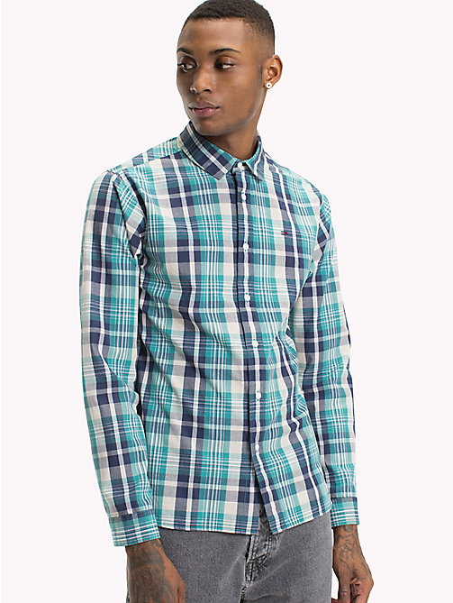 TOMMY JEANS Check Shirt - BLACK IRIS / GREEN BLUE STATE - TOMMY JEANS Shirts - main image
