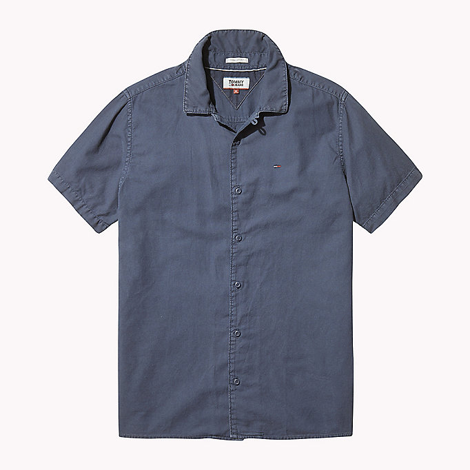 TOMMY JEANS Pique Camp Shirt - AIR BLUE - TOMMY JEANS Men - detail image 1