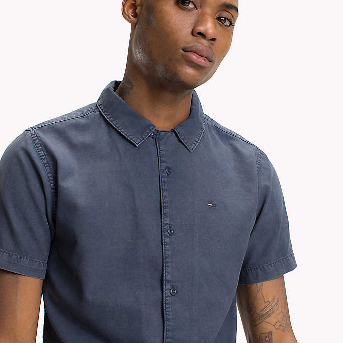 TOMMY JEANS Pique Camp Shirt - AIR BLUE - TOMMY JEANS Men - detail image 3