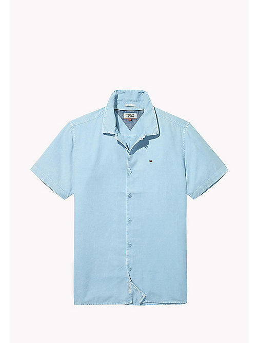 TOMMY JEANS Pique Camp Shirt - AIR BLUE - TOMMY JEANS Shirts - detail image 1