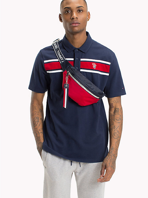 TOMMY JEANS Regular fit polo - BLACK IRIS - TOMMY JEANS Festivalseizoen - main image