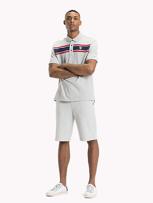 TOMMY JEANS Regular Fit Polo Shirt - LT GREY HTR - TOMMY JEANS Festival Season - main image