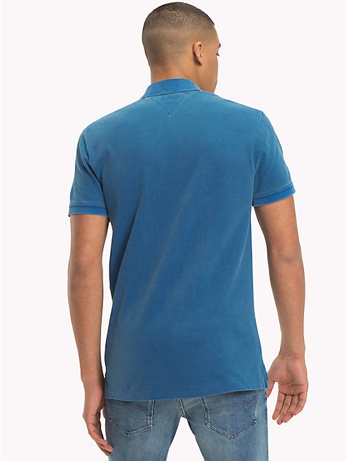 TOMMY JEANS Regular Fit Washed Polo - BLUE SAPPHIRE - TOMMY JEANS T-Shirts & Polos - detail image 1