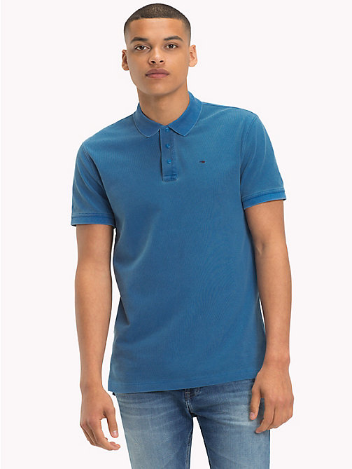 TOMMY JEANS Regular Fit Washed Polo - BLUE SAPPHIRE - TOMMY JEANS T-Shirts & Polos - main image